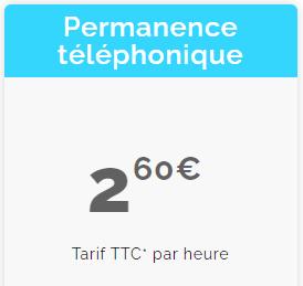 tarif permanence-telephonique