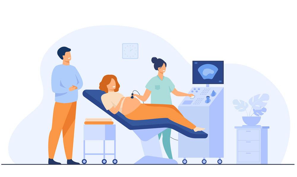 Echographie-gynécologique-sage-femme