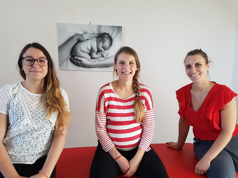 Hanna Doye Ostéopathe et ses deux collègues remplaçantes