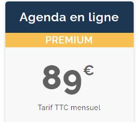 agenda médical en ligne tarif premium gps sante