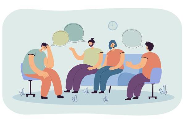 Réunion et thérapie de groupe avec un psychologue
